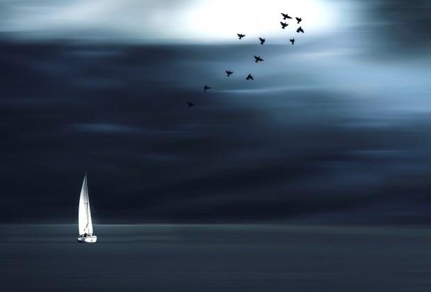 nature-landscape-minimalism-horizon-sailing-ships-bird-photoshop-clouds-sea-1920x1080